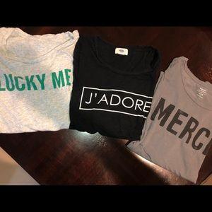 Phrase Tee Shirt Lot